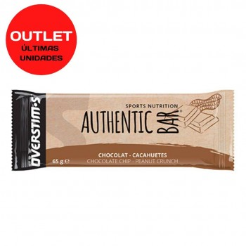 OVERSTIMS AUTHENTIC BAR 65grs CHOCOLATE - CACAHUETES CAD 31/10/20