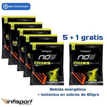 PACK INFISPORT ND3 SOBRES 60GRS LIMON 5+1 DE REGALO