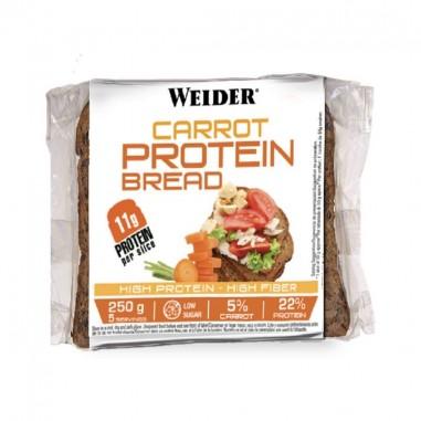 WEIDER Protein Bread Pan Proteico 5 Rebanadas Zanahoria 250grs