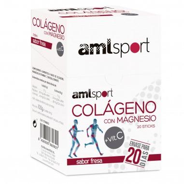 AML SPORT Colágeno con Magnesio + Vitamina C (20 sobres)