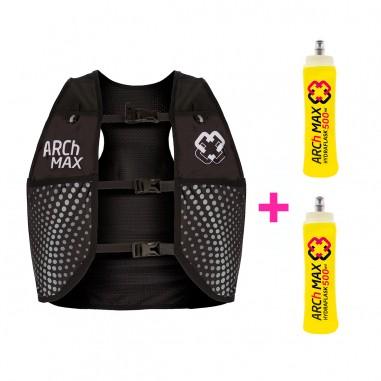 Arch Max Chaleco Hidratación HV-4.5 Unisex 4.5 Litros Black + 2 Hydraflask 500ml
