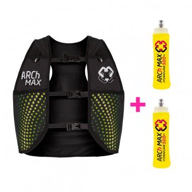 Arch Max Chaleco Hidratación HV-4.5 Unisex 4.5 Litros Green + 2 Hydraflask 500ml