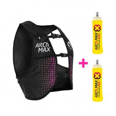Arch Max Chaleco Hidratación HV-6 Unisex 6 Litros Pink + 2 Hydraflask 500ml